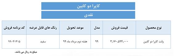 نهم تیر، آغاز فروش ۳ محصول گروه بهمن
