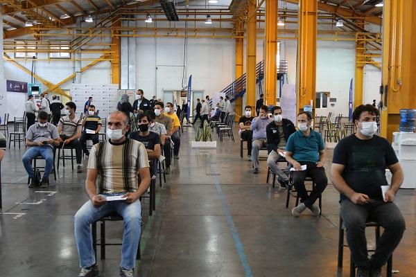 واکسیناسیون سراسری کارکنان شرکتهای منطقه صنعتی صفادشت به همت هلدینگ رایزکو